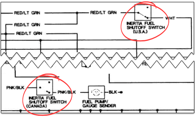 I took a closer look at the wiring diagram